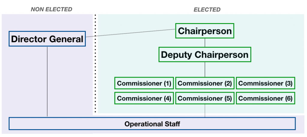 The Commission's structure from 2021 following the AU reform